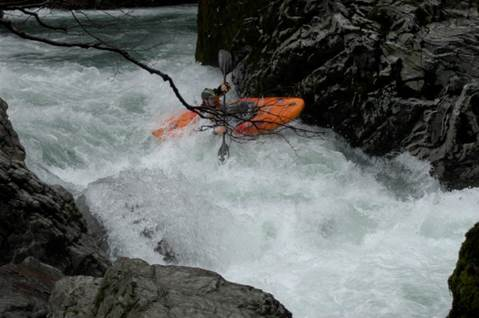 Running Conehead Rapid on the Chetco River
