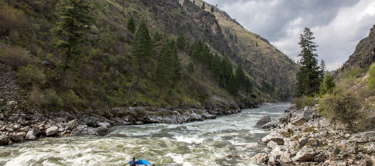Rafting the South Fork Salmon in Idaho. Photo by Skip Volpert.