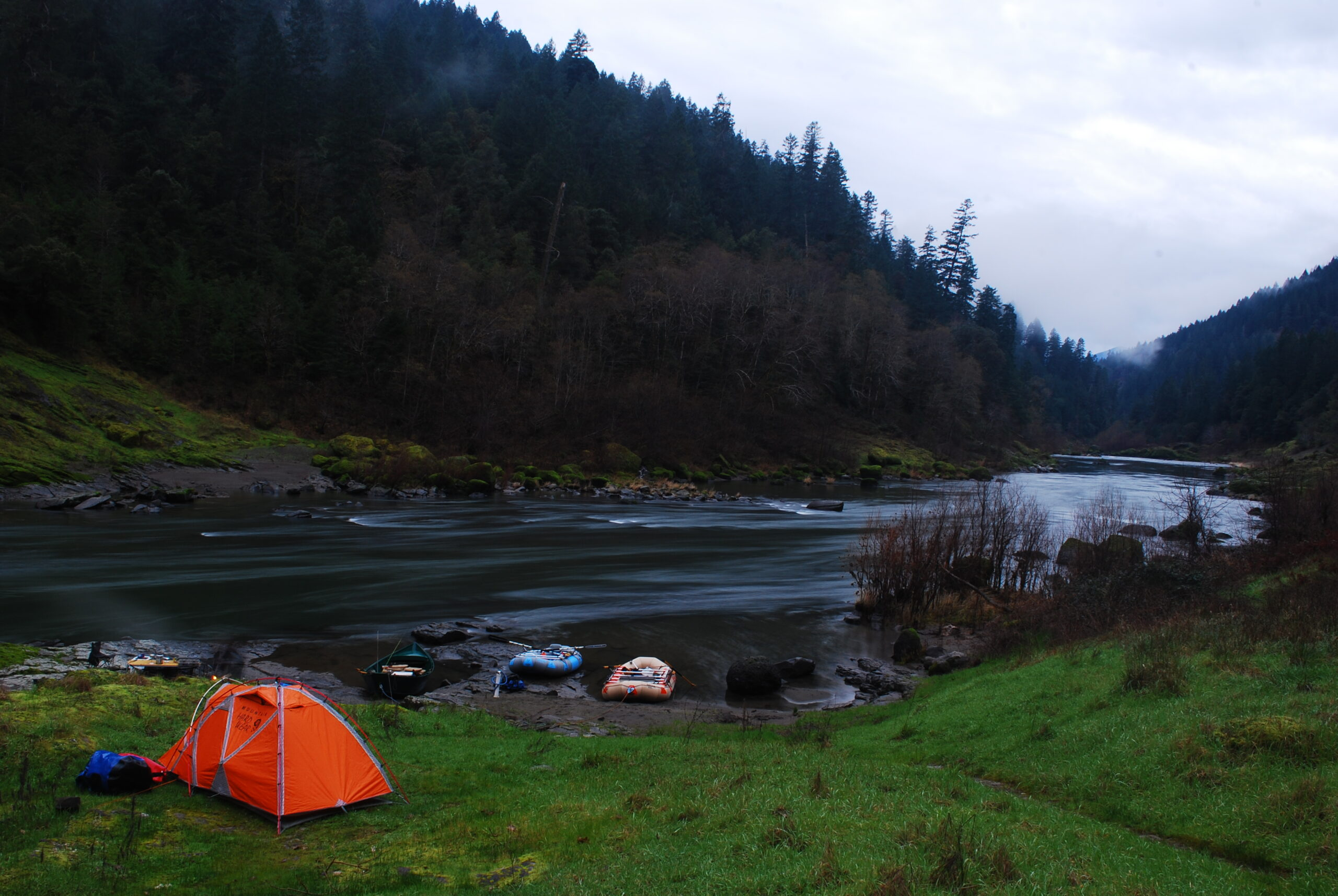 Camping at Upper Tacoma on the Wild & Scenic Rogue River