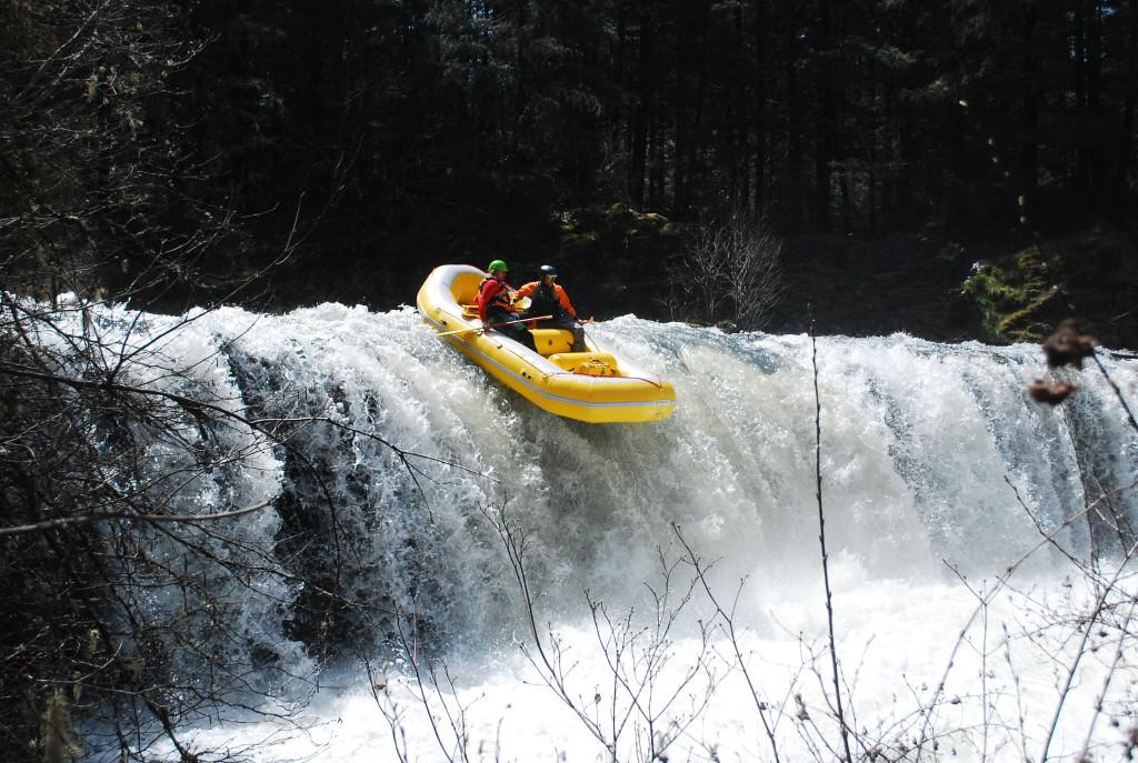 Glen Finch and Brandon Worthington on Butte Falls