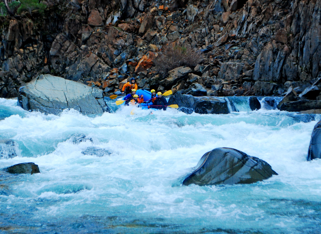 Mark Barsonti and crew entering Scout Rapid on the North Fork Smith
