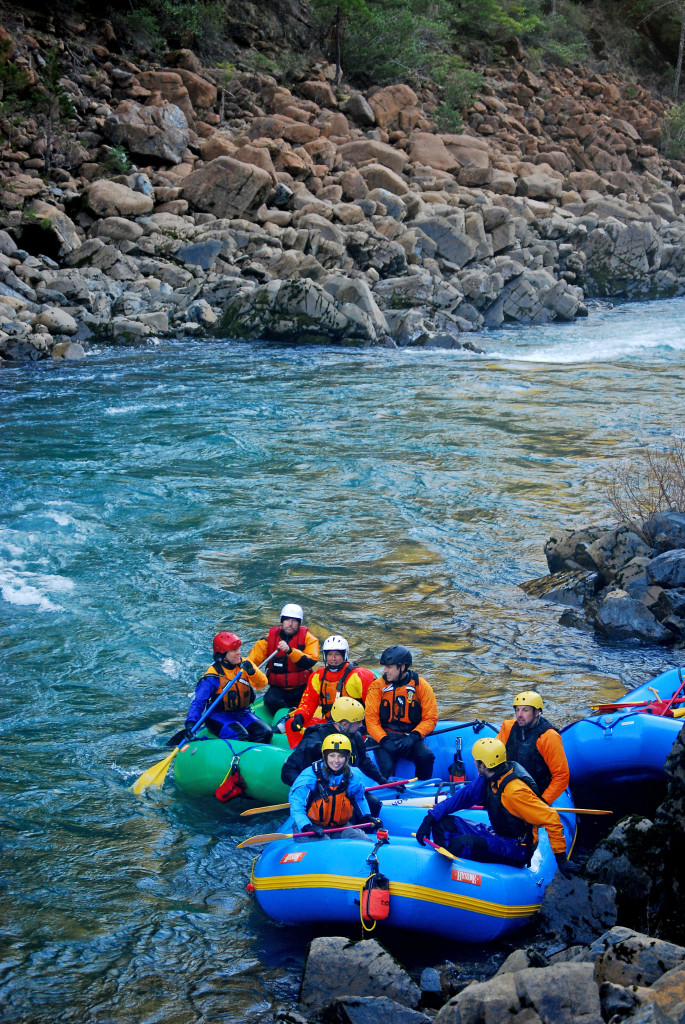 Eddied out on the North Fork of the Smith River, California.