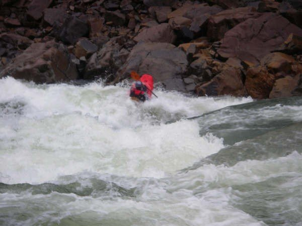 Tom Peil runs Scout Rapid, North Fork Smith